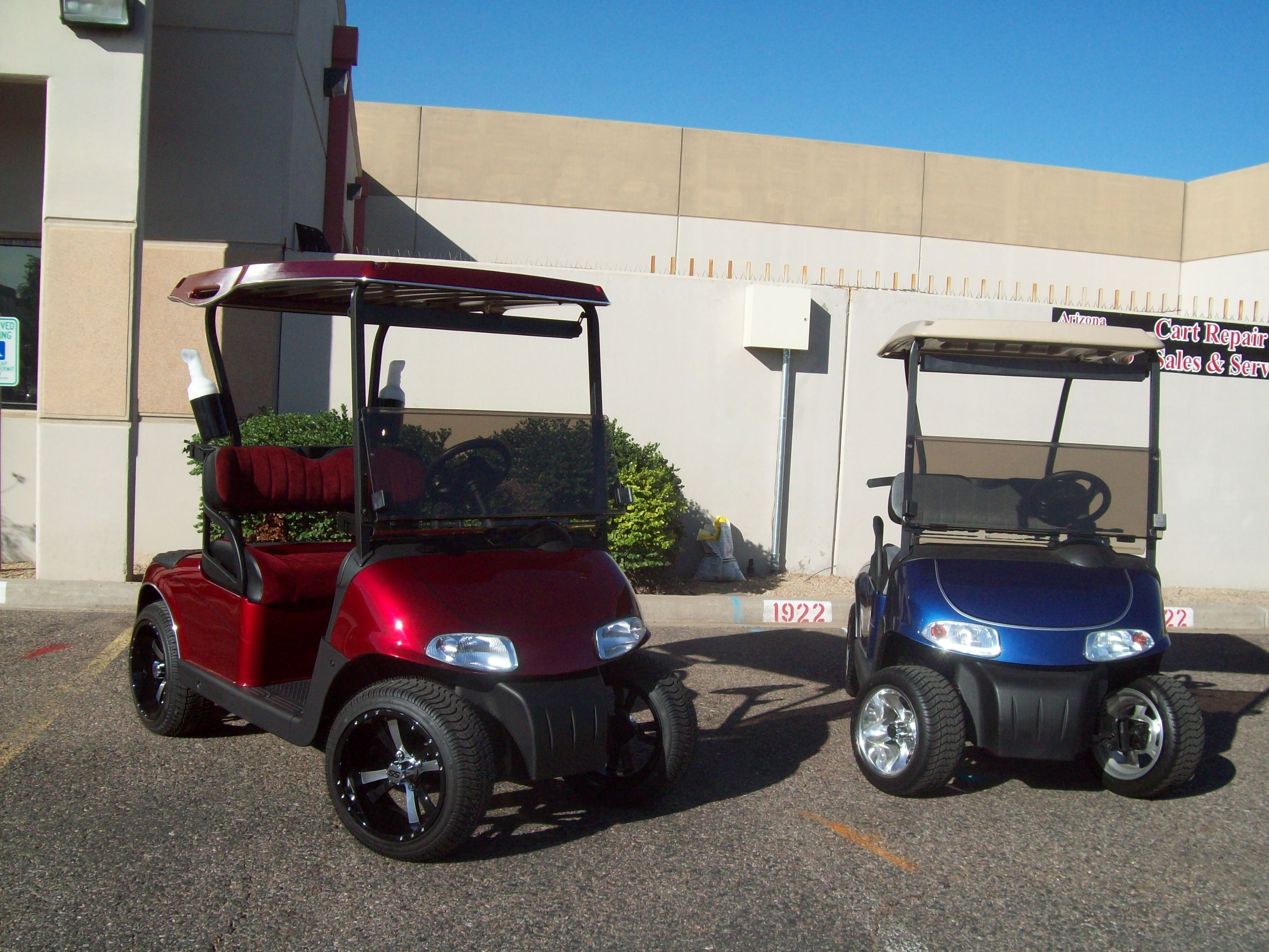 Golf Cart Painting Custom Paint Job Arizona Golf Cart
