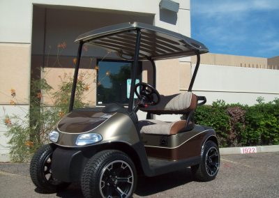 custom rebuilt golf cart
