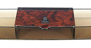 Regal Burl Beverage Tray Holder
