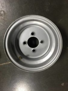 Used 10×7 Silver Steel Wheel