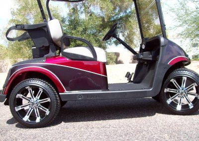 repainting of golf cart