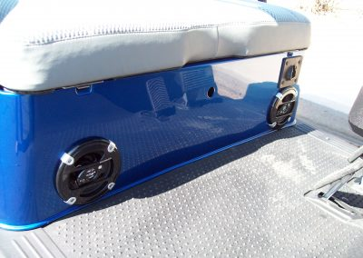 audio system in golf cart